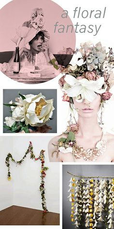 floral DIY inspiration board