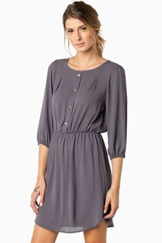 Lainie Dress in Grey / ShopSosie #shopsosie #sosie