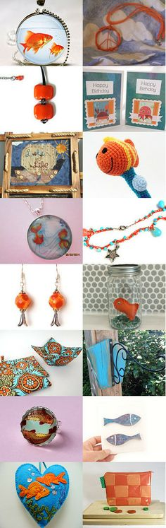 Goldfish by Beth on Etsy--Pinned with TreasuryPin.com #annehermine