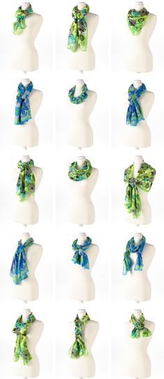 "15 ways to ""Tie the Knot"" on Scarves around your neck."