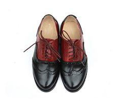 11-Color-nosotros-tamano-5-9-contrato-cuero-vestir-formal-Oxfords-Para-Mujer-punta-del-ala-Zapatos
