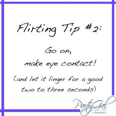 Subtle flirting tips