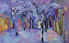 Winter Eve Print by Larisa Aukon