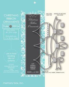Memory Box Die CHRISTMAS RIBBON ORNAMENTS