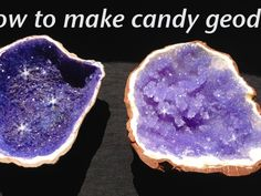 How to make rock candy edible geodes. Ann Reardon of  How To Cook That  shows us how to make her incredible sugar geodes