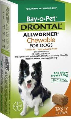 Hervey Bay Pet Stop - DRONTAL ALLWORMER DOG 10KG 20'S CHEWABLE, $109.22 (http://hervey-bay-pet-stop.mybigcommerce.com/drontal-allwormer-dog-10kg-20s-chewable/)