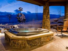 Hot Tub with great views of Park City, Utah