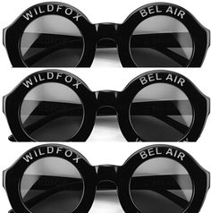 Seeing triple - WILDFOX BELAIR, the perfect sunnies for any occasion. Women Brands, Bel Air, Wildfox, Sunnies, Vintage Inspired, Round Sunglasses, Fashion, Moda, Sunglasses