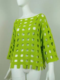 """Pull """"grille"""" tricoté main en coton pur Pulls, Pullover, Sweaters, Fashion, Summer Tops, Pattern, Hands, Lingerie, Moda"""