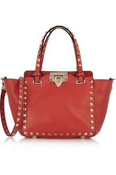 The Rockstud mini leather tote #accessories #women #covetme #valentino
