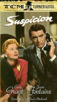Cary Grant in Suspicion Turner Classic Movies, Classic Movie Posters, Classic Films, Film Posters, Cary Grant, Novel Movies, Lifetime Movies, About Time Movie, Alfred Hitchcock