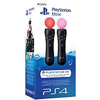 Få endnu bedre gameplay i PlayStation 4 VR-spil med mere realisme takket være disse to PS4 Move-controllere, der omdanner dine håndbevægelser til spilhandlinger og inkluderet kendte knapper og triggers for intuitiv styring.