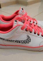 Buty, nike, adidasy, róż, białe, wygodne, 23,5cm