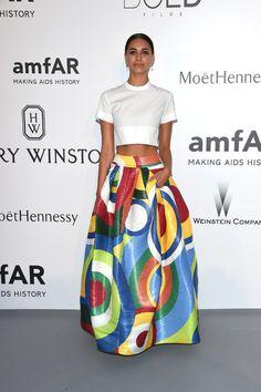 April Love Geary en robe DSquared² printemps-été 2015. #Cannes2015