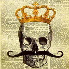 Skull n Moustache