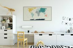 Detailed map poster. wall sticker fabric decal
