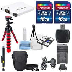 NB11L Deluxe Accessory Bundle for Canon PowerShot Elph160 170 180 190 350 360 along with a total of 32GB Flexible Tripod Battery ACDC Charger and Cleaning Accessories ** Click image for more details. This is Amazon affiliate link.