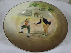 VINTAGE ROYAL DOULTON Dickensware cabinet plate  26.5cm Mr Pickwick & Sam Weller
