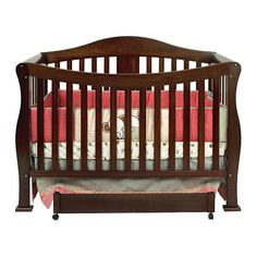 You cant pass up the Parker. The DaVinci Parker 4-in-1 Convertible Crib in Coffee was engineered for years of comfort and style. This crib becomes a toddler bed or a daybed. With wooden bed rails it converts into a full-size bed. With the Parker Collection you get it all. Uses a standard size baby crib mattress