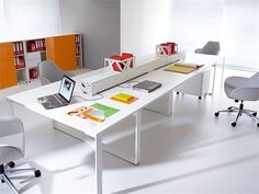 Zig Zag is not just a funny structure but also the name of this beautiful and elegant furniture collection. It was designed by Zbigniew Kostrzewa and it's Open Concept Office, Open Office, Office Desk, Big Desk, Modular Office, Glass Office, Office Storage, Office Furniture, Logan