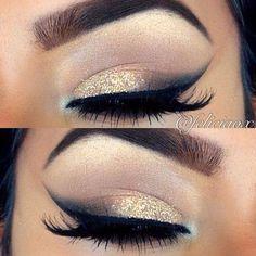 Eyes / gold + black / Ojos / dorado + negro
