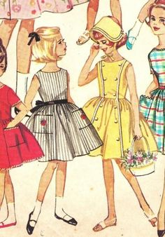 vintage children sewing patterns | categories > Vintage Sewing Patterns > Vintage Children's > Girls 7-10 ...