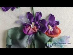 Online Silk Ribbon Courses- Violets - YouTube  BUY--> http://ingridcreates.com/learn-how-to-embroider-violets-online/