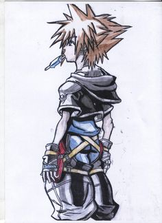 An older drawing I made when I was in LOVE with Kingdom Hearts