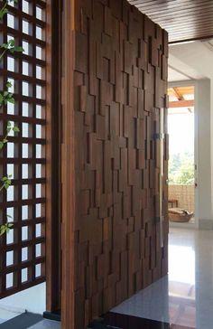 35 Ideas Exterior Front Entrance Modern Entry Decor For 2019 Wooden Main Door Design, Main Gate Design, Front Door Design, House Main Door Design, Garage Design, Door Design Interior, Design Exterior, Interior Modern, Asian Interior