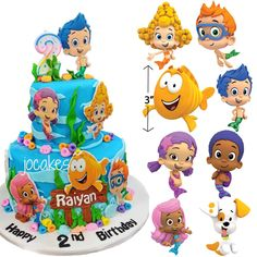 Terrific 7 Best Bubble Guppies Cake Toppers Party Supplies Images Personalised Birthday Cards Veneteletsinfo
