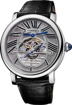 Rotonde de Cartier Astroregulator 50 mm, Automatikaufzug, Niob-Titan, Leder