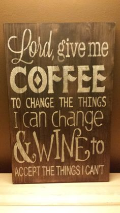 COFFEE SIGN/KITCHEN Sign/gift/humorous sign/gag by kimburcreations