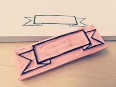 "Otros - Sello ""Pancarta"" - hecho a mano por FuroshikiShop en DaWanda"