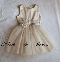 Grace... flower girl dress organic cotton size 25 by OliveandFern, $99.00