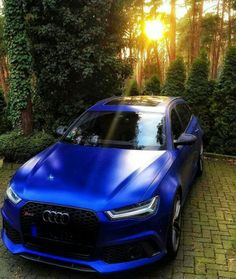 BEAUTIFUL Blue #Audi RS6 in a BEAUTIFUL location!