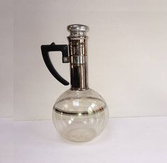Mid Century Modern Coffee Carafe Retro 1960's Glass Coffee