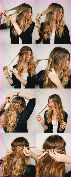 40 Cute Hairstyles: Step-by-Step Tutorials for Long Hair - Hair styles - Step By Step Hairstyles, Teen Hairstyles, Winter Hairstyles, Braided Hairstyles, Quick Hairstyles, Wedding Guest Hairstyles Long, Party Hairstyles For Long Hair, Hairdo For Long Hair, Cute Hairstyles For School
