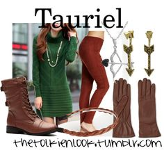 Tauriel by thetolkienlook on Polyvore featuring Hue, Lucky Brand, Amanda Rose Collection and Cara