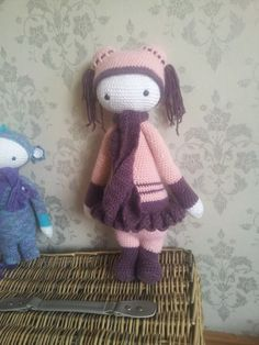Little girl doll mod made by Eveline O. / based on a crochet pattern by lalylala