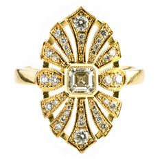 Amazing Art Deco style ring from the Artistry of Biagio.