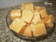 Honey fudge (Russian). Медовая сливочная помадка.