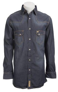 Larry Mahan Mens L/S Western Snap Shirt CCMDNM106
