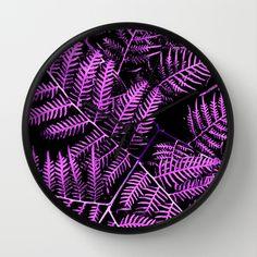 Purple Bracken Wall Clock by Moonshine Paradise $30.00