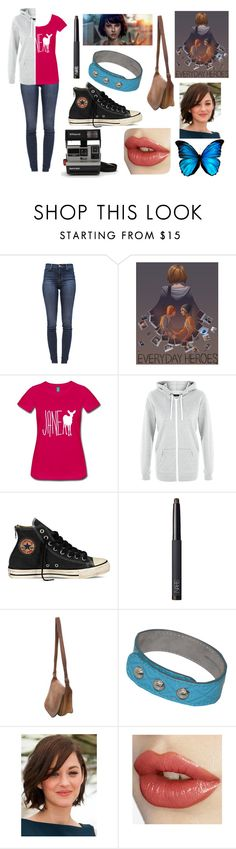 """""""Max Caulfield (Life is Strange)"""" by megnut101 ❤ liked on Polyvore featuring J Brand, Converse, NARS Cosmetics, Coach, Tod's and Polaroid"""