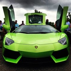 cool Ithaca Verde Lamborghini Aventador...  WOW