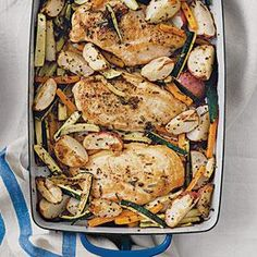 Freeze individual portions and bake when ready.  Rosemary Chicken with Zucchini | MyRecipes.com