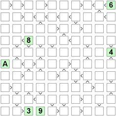 Number Logic Puzzles: 24332 - Futoshiki size 10