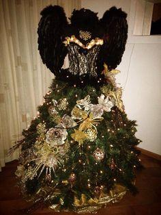 Kerstboom, jurk, cristmas tree, tree dress, homemade