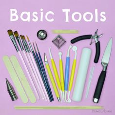 Basic Tools /free, tips, equipment, cake decorating, toppers, modelling, fondant, gum paste