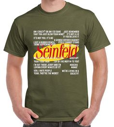 Seinfeld T-shirt inspired Distressed Logo Quotes Text by ArtiaShop